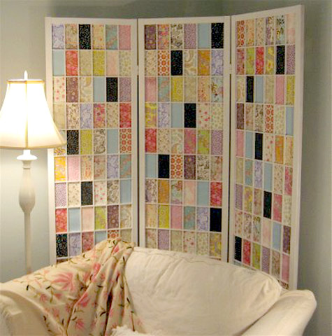 Use folding screen for an awkward or tricky corner.