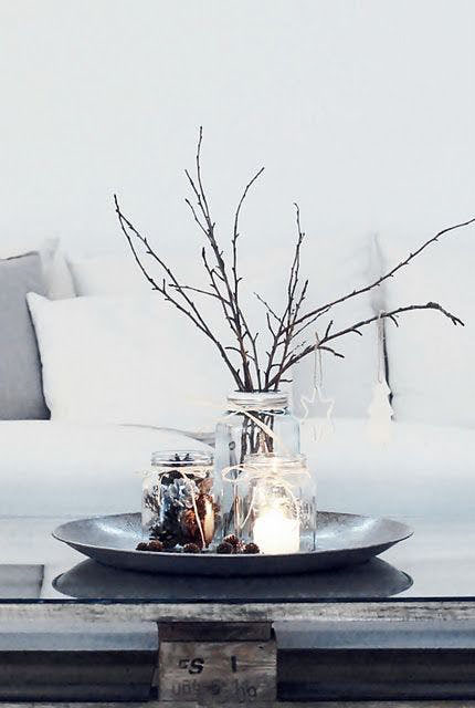 Branches on coffee table