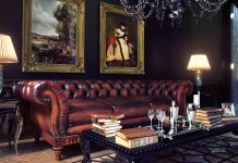 Chesterfield Sofa in an English Manor