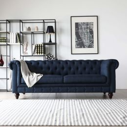 Chesterfield Sofa in Velvet Blue