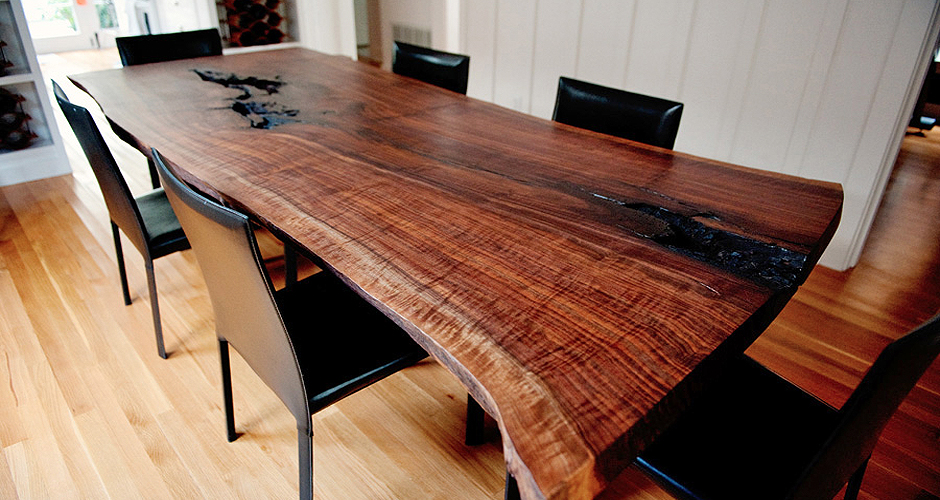 What Is A Wood Slab Or Live Edge Table, Live Edge Dining Room Table