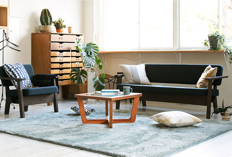 Cosy living room with Softy Japanese rug
