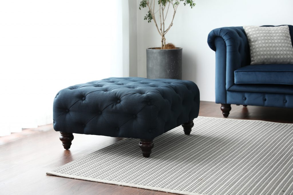 Hugo Chesterfield Sofa Ottoman