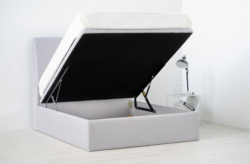 HOLMVAN Storage Bed Frame has large under bed storage to keep any clutter well-hidden.