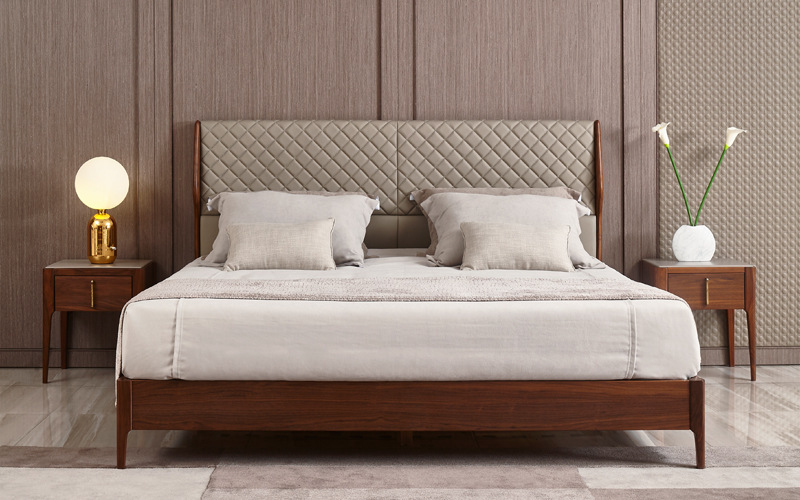 Image of Adams Ash Wood bedframe from our website' product page.